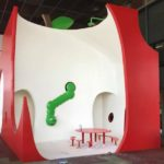 Play area for children made of plasterboard