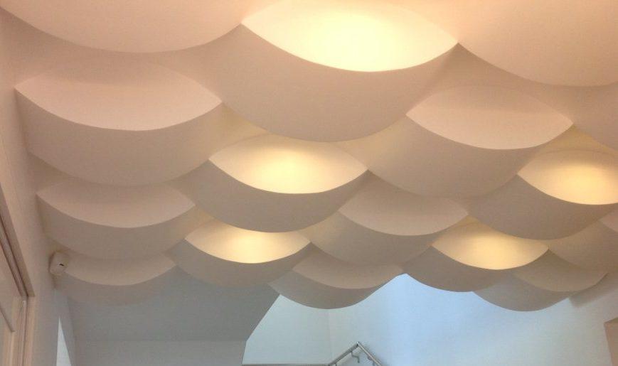 Soffitti A Volta In Cartongesso : Come costruire un soffitto a onde con profili flessibili per
