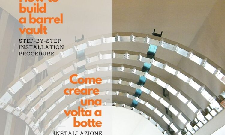 How to create barrel vaults with I Profili's curving profiles for plasterboard