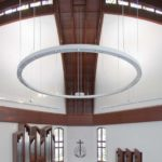 Drywall on curved surfaces for the renovation of a church in Germany