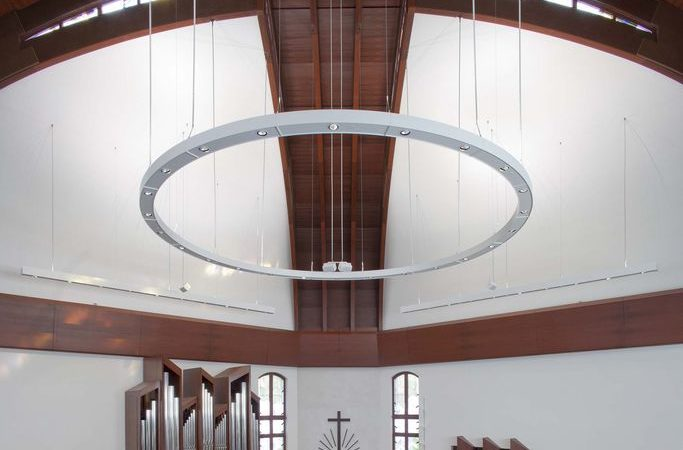 Drywall curved design: renovation of a church in Germany